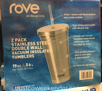 Costco 1054439 - Rove Stainless Steel Double Wall Vacuum Insulated Tumblers: great for sipping on your favorite cold drink