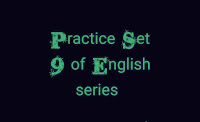 English Practice sets for IBPS CLERK, RBI assistant exams