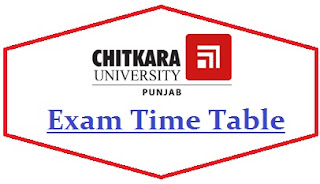 Chitkara University Exam Date Sheet 2020