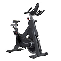 Schwinn SC Power Indoor Cycle Spin Bike, with heavy perimeter weighted flywheel, quiet Poly-V belt drive, direct pressure brake resistance