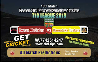 Who will win Today T10 League 2019, 10th Match Karnataka vs Gladiators, 100% Sure Prediction