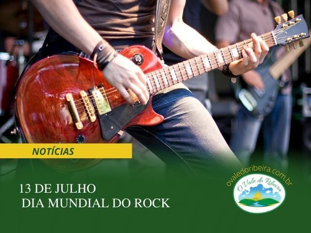 Treze de julho Dia Mundial do Rock