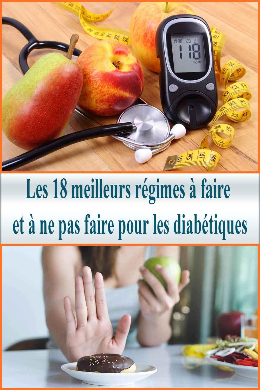 meilleurs régimes à faire et à ne pas faire pour les diabétiques