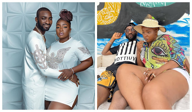 You no dey go anywhere, sit down - Anita Joseph's husband reacts after his wife asked Publicly if she can go for BBNaija
