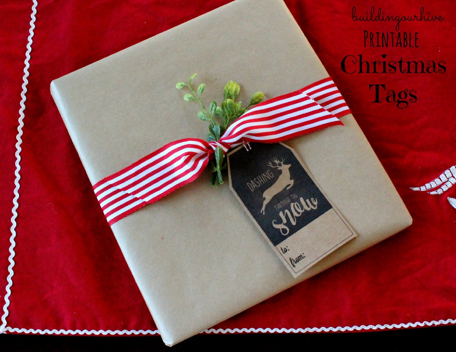 Christmas Tags: Building Our Hive: Printable Christmas Tags And Gift Wrapping