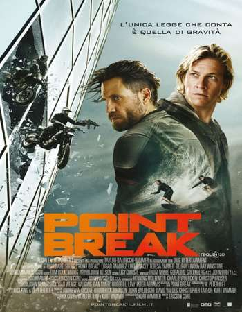 Poster Of Point Break 2015 Hindi Dual Audio 500MB BluRay 720p ESubs HEVC Free Download Watch Online downloadhub.in