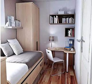 desain kamar minimalis elegan 2x3