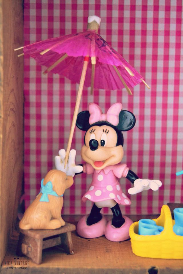 diorama, diy, tutorial, mundo, Minnie Mouse, handmade