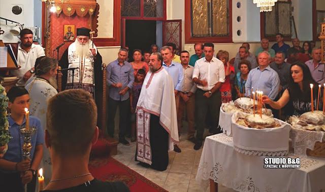 Αρχιερατικός εσπερινός στο Αραχναίο για τον Άγιο Παντελεήμονα