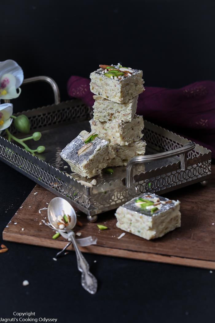 image of milk powder barfee halwai style