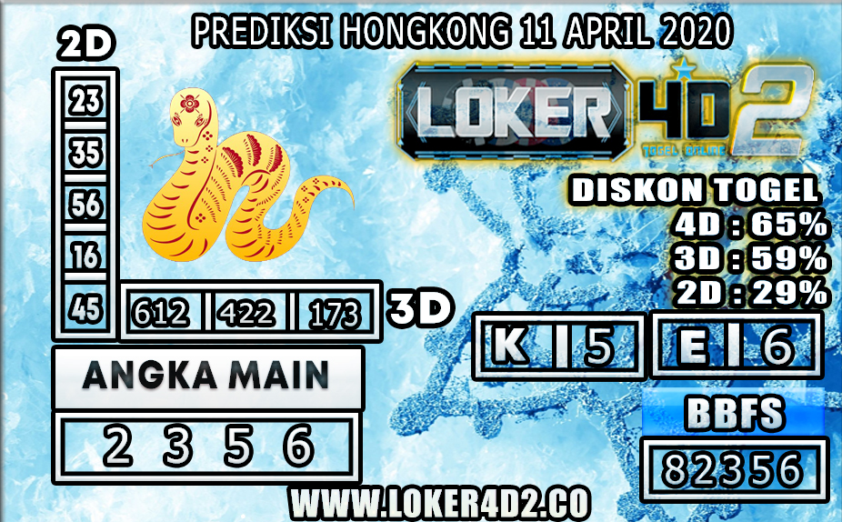 PREDIKSI TOGEL HONGKONG LOKER4D2 11 APRIL 2020