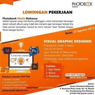 Lowongan Kerja Visual Graphic Designer di Photobook Media Makassar