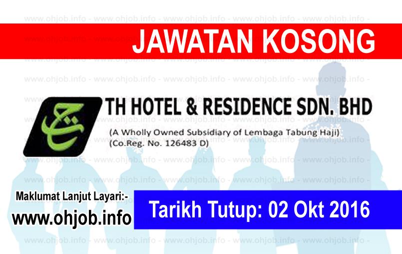 Jawatan Kerja Kosong TH Hotel & Residence logo www.ohjob.info oktober 2016