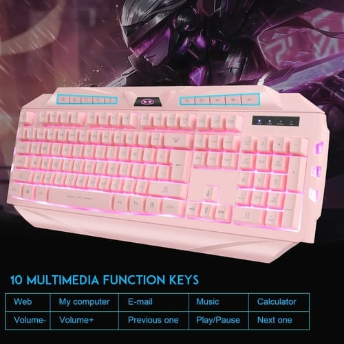 Review MageGee GK710 Pink Keyboard and Pink Mouse
