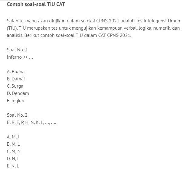 Segera Dibuka Contoh Soal Dan Cara Daftar Simulasi Tes Cat Cpns 2021 Kuota Terbatas Pegiat Literasi Com