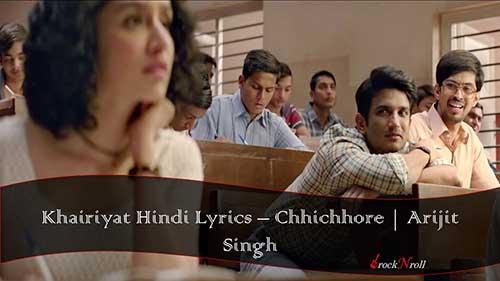 Khairiyat-Hindi-Lyrics-Chhichhore-Arijit-Singh