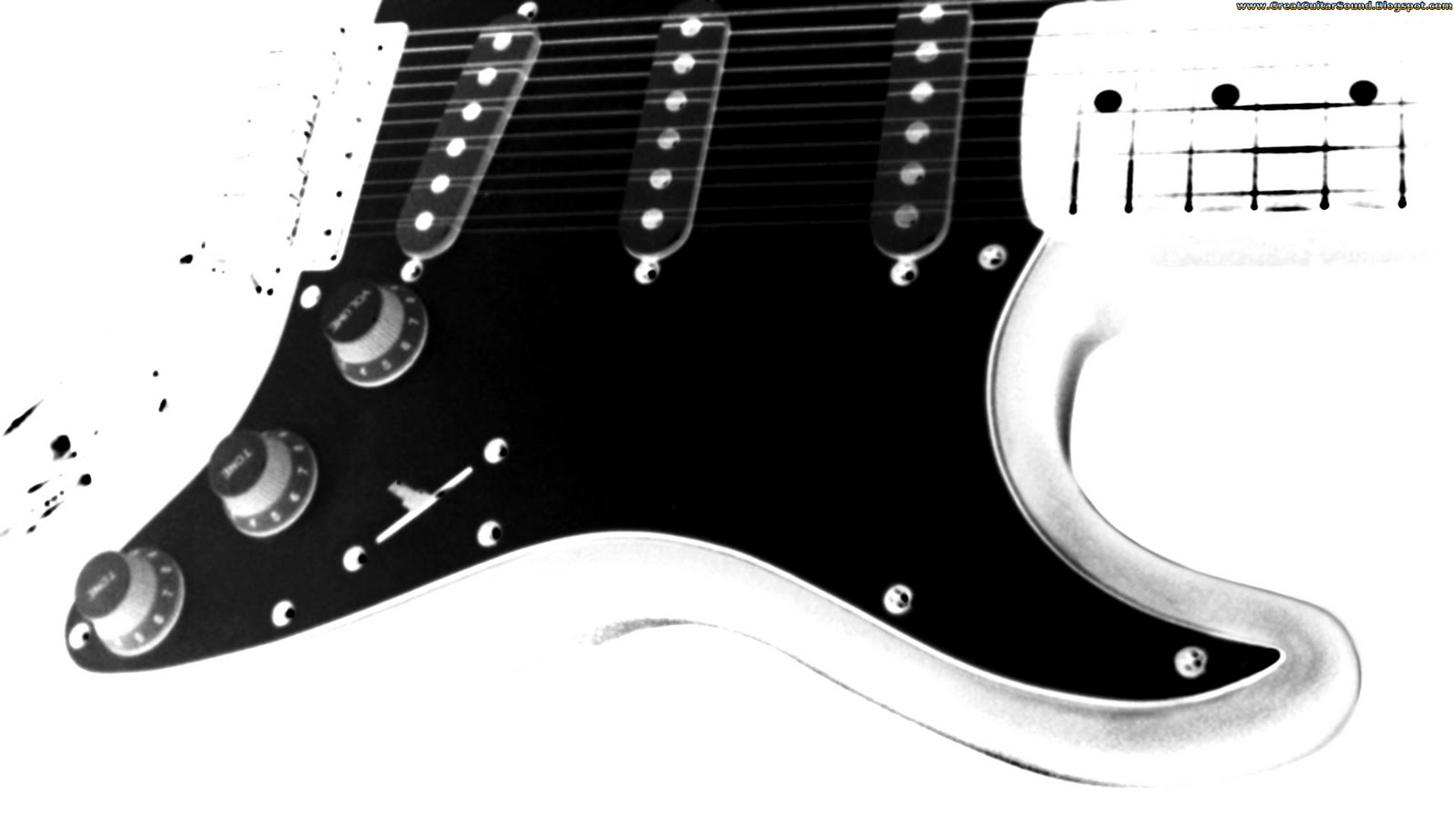 Great Guitar Sound Guitar Wallpaper White And Black Fender Stratocaster Electric Guitar Black Pickguard 1920x1080