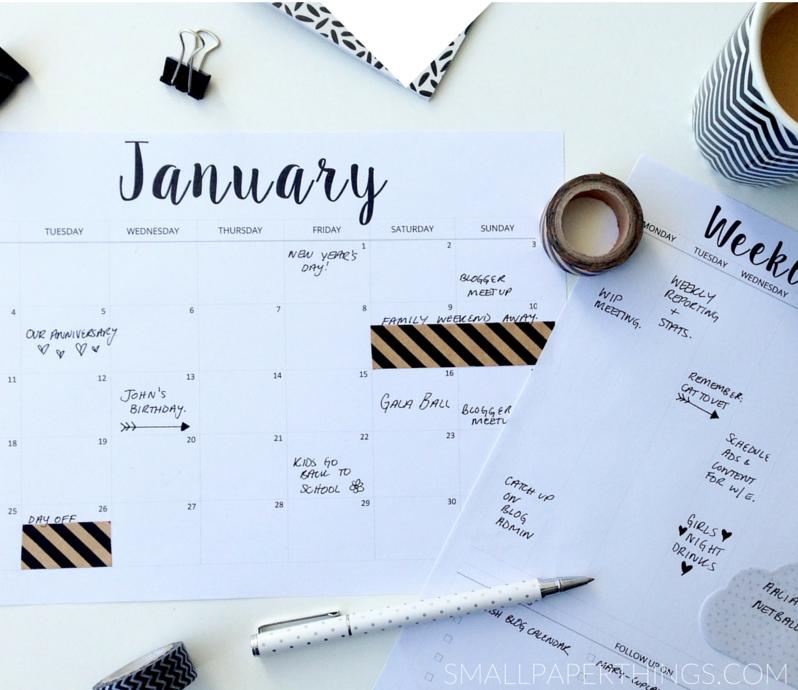 2016년 달력 디자인 _ 프린트해서 쓰세요!.! : 네이버 블로그