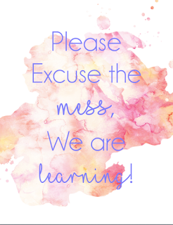 https://www.teacherspayteachers.com/Product/Please-Excuse-the-Mess-Poster-2962622
