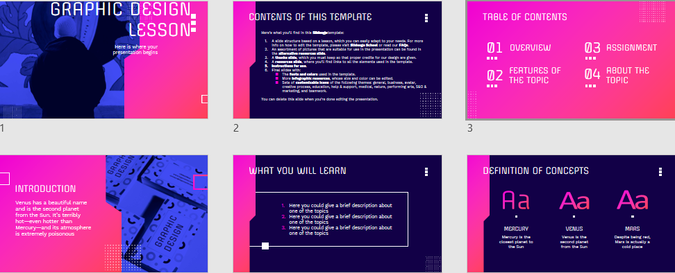 Graphic Design Free PowerPoint Templates