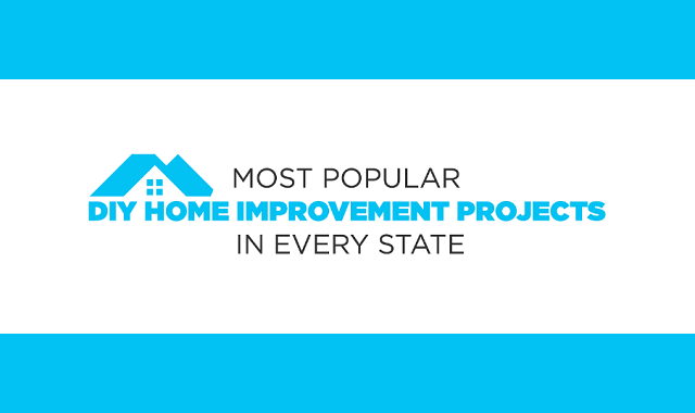 Most popular DIY home improvement project in every state