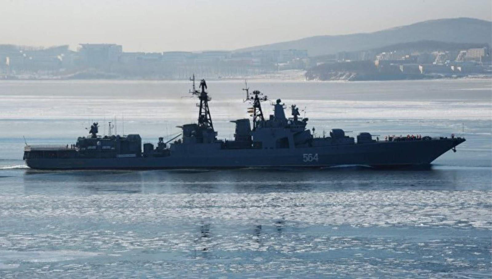 Ada kompoi kapal Angkatan Laut Rusia AL Inggris melakukan operasi di Selat Inggris