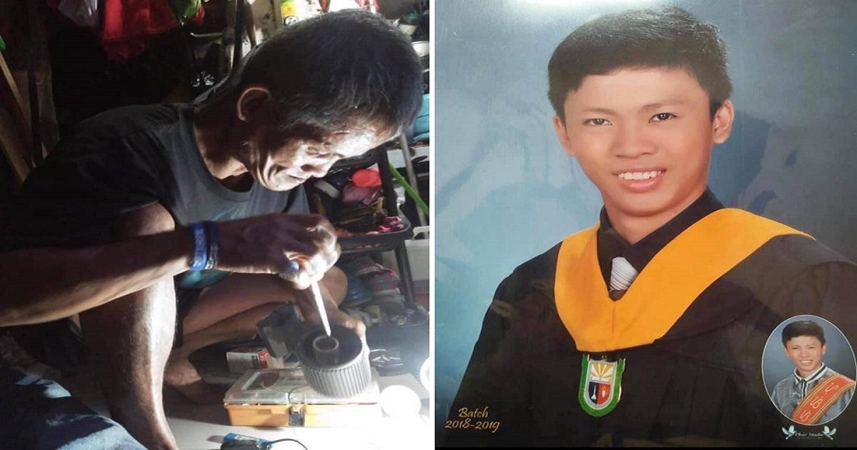 New graduate proudly honors 'basurero' dad who sent him to school