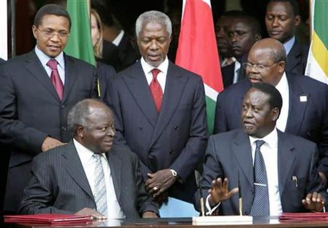Benjamin Mkapa and Koffi Annan photos