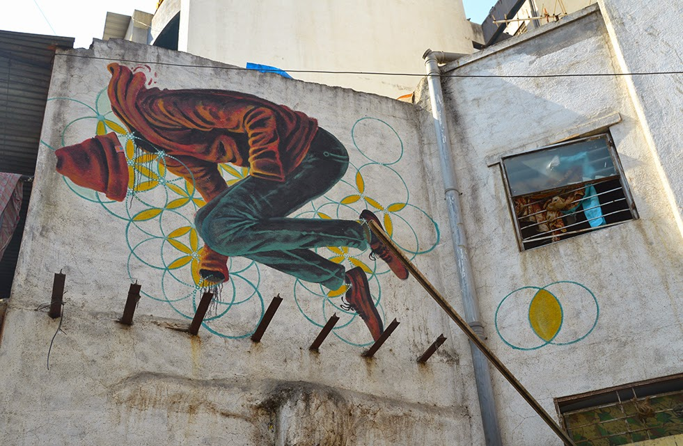 Pune Street Art Project Mural Kasba Peth Miles Toland