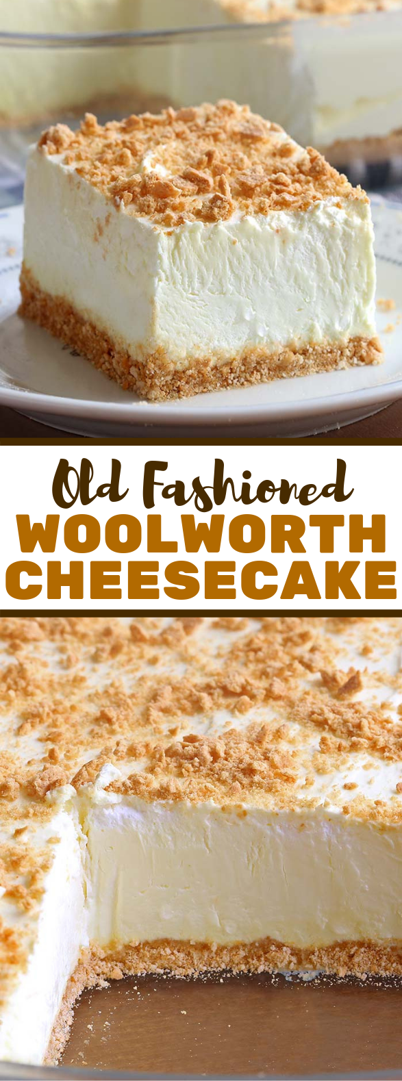 No Bake Classic Woolworth Cheesecake #desserts #cake
