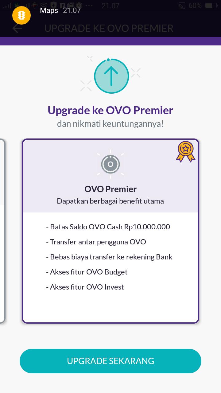 Cara Buat Akun OVO dan Upgrade Ke akun Premier - Tips Trik Blog Dan