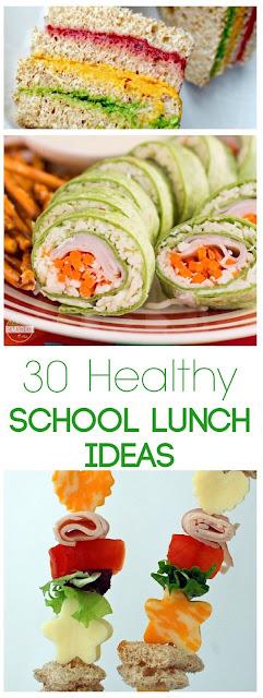 30 Fun, Easy, Healthy, and Creative  School Lunch Ideas