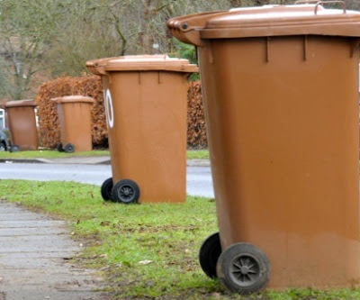 Image: Brown recycling bins