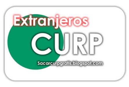 Circulo Verde con texto de Curp para Extranjeros