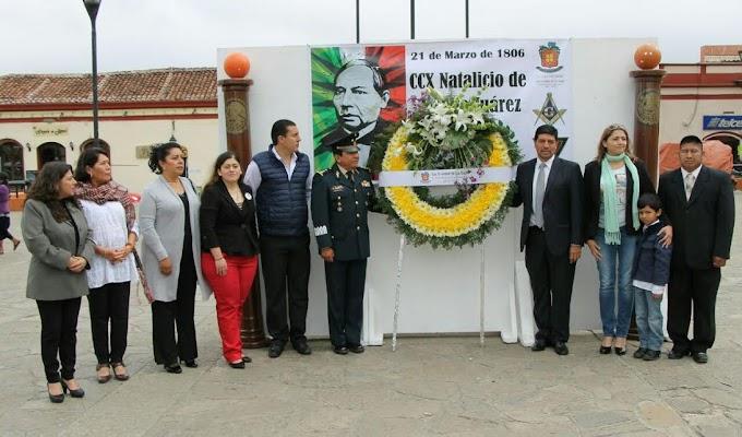 AYUNTAMIENTO DE SCLC CELEBRA EL 210 ANIVERSARIO DEL NATALICIO DE BENITO JUÁREZ GARCÍA.