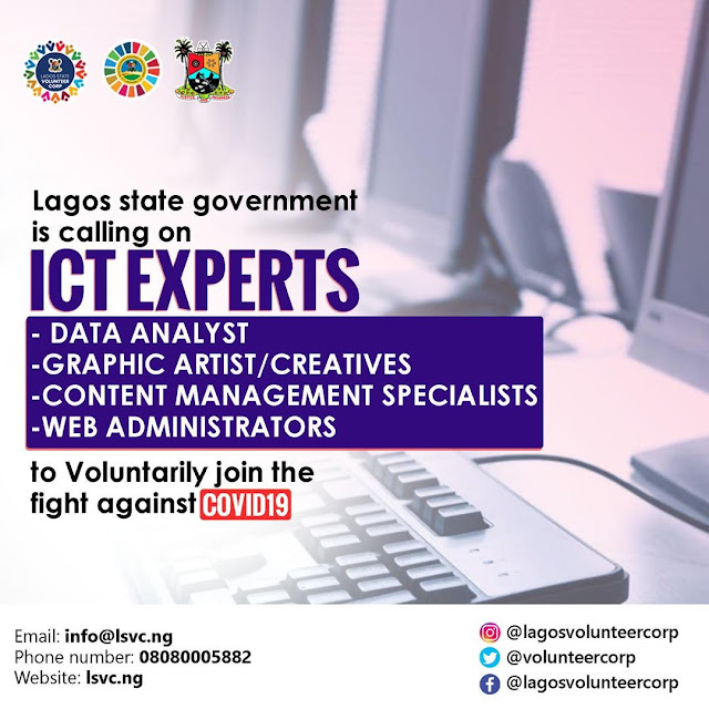 Lagos State Volunteer Corp for ICT Experts 2020 | How to Join