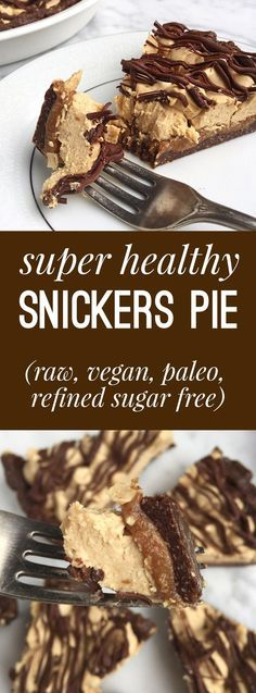 Super Healthy Snickers Pie (Gluten Free, Paleo, Vegan, Raw)