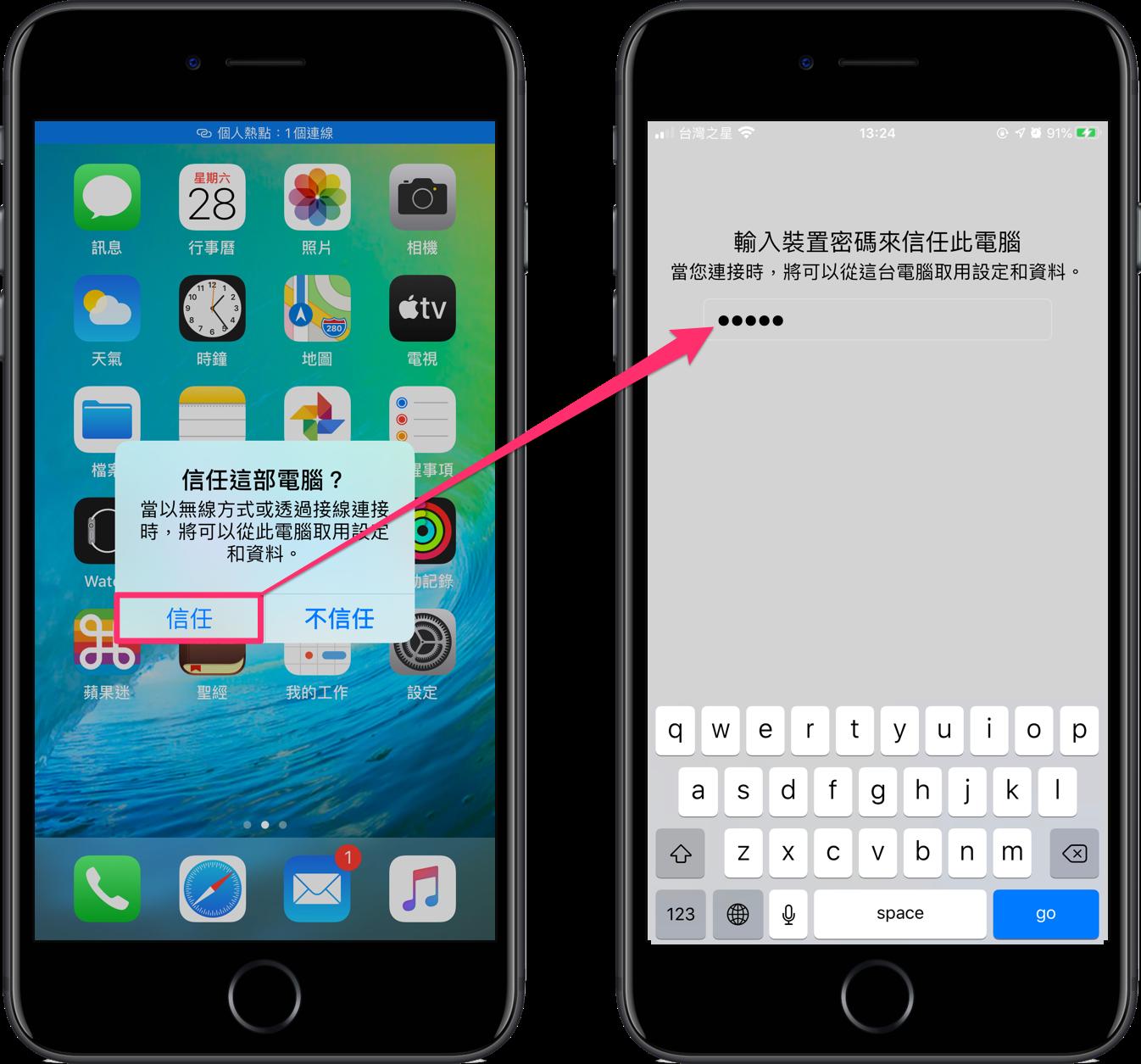 USB 分享 iPhone 網路