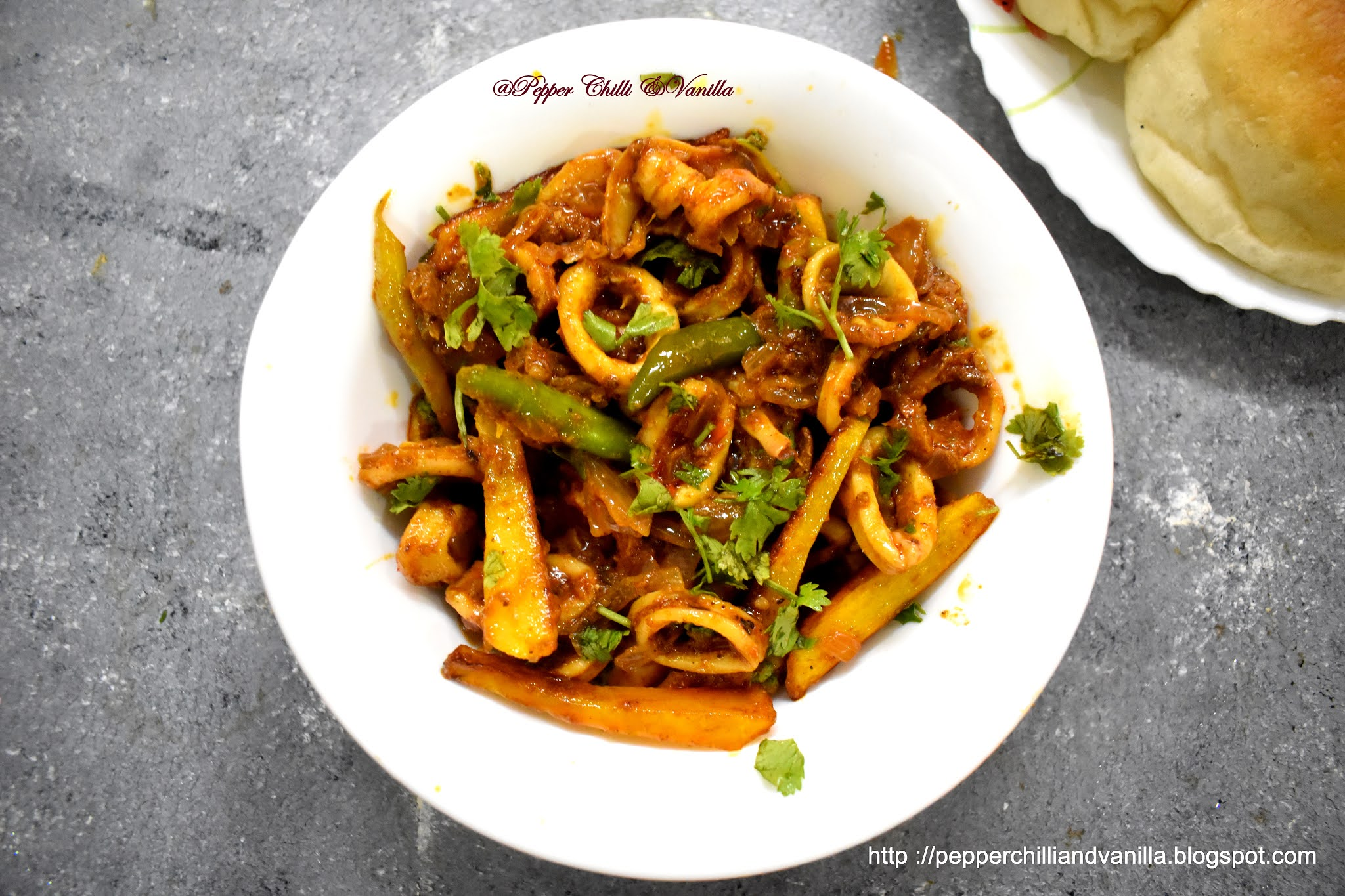 goan squids chilli fry recipe