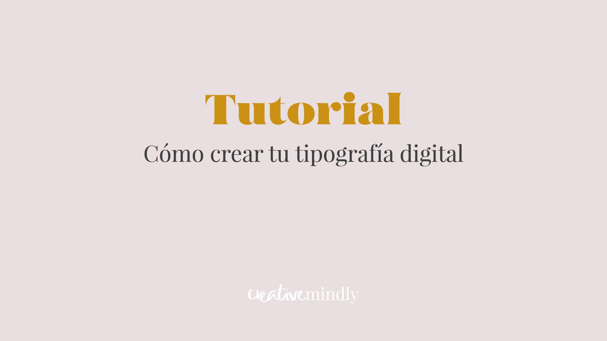 Como hacer una tipografia