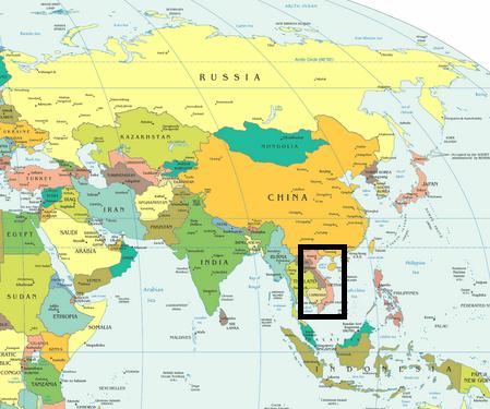 Vietnam Mapa Clima