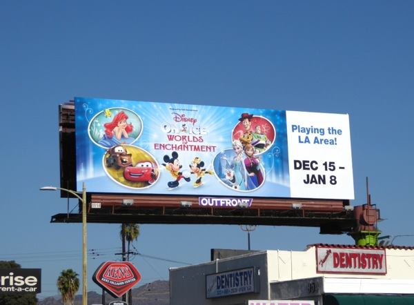 Disney on Ice Worlds of Enchantment 2016 billboard