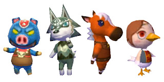 graphics of Ganon, Wolf Link, Epona and Medli from New Leaf