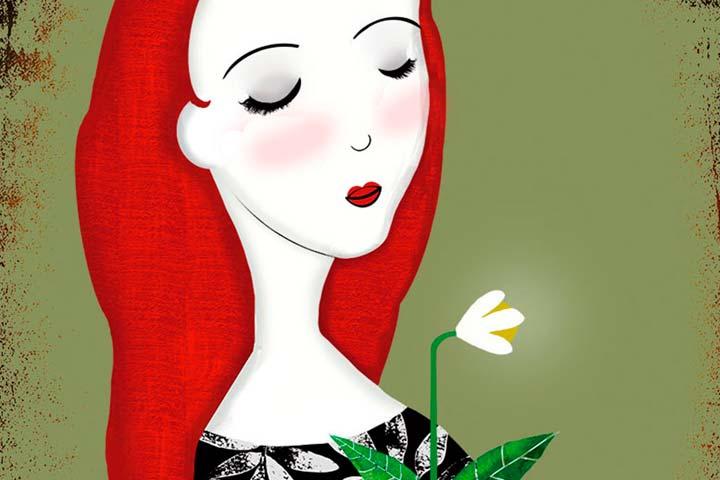 Ilustración, La chica de la flor de Andy Leimontas