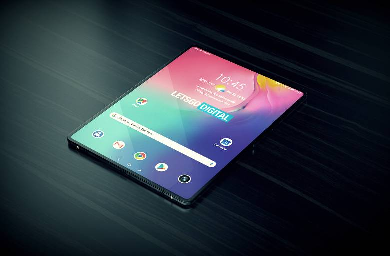 It will look like a flexible tablet Samsung Galaxy Fold