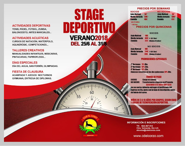 Reservas del Stage 2018