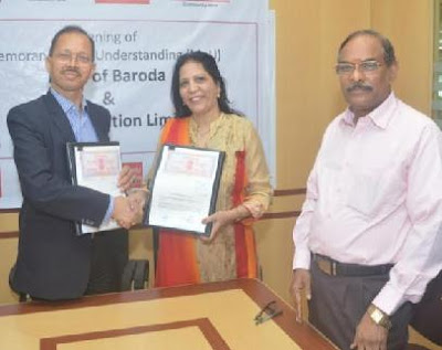 Bank of Baroda, MOU, CNX Corporation Ltd, G.B.Bhuyan, Nirupama D. Pendurkar, Managing Director & CEO of CNX Corporation Ltd