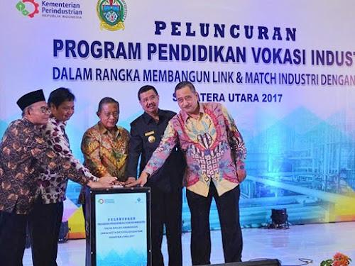 Peluncuran Pendidikan Vokasi Industri di Medan