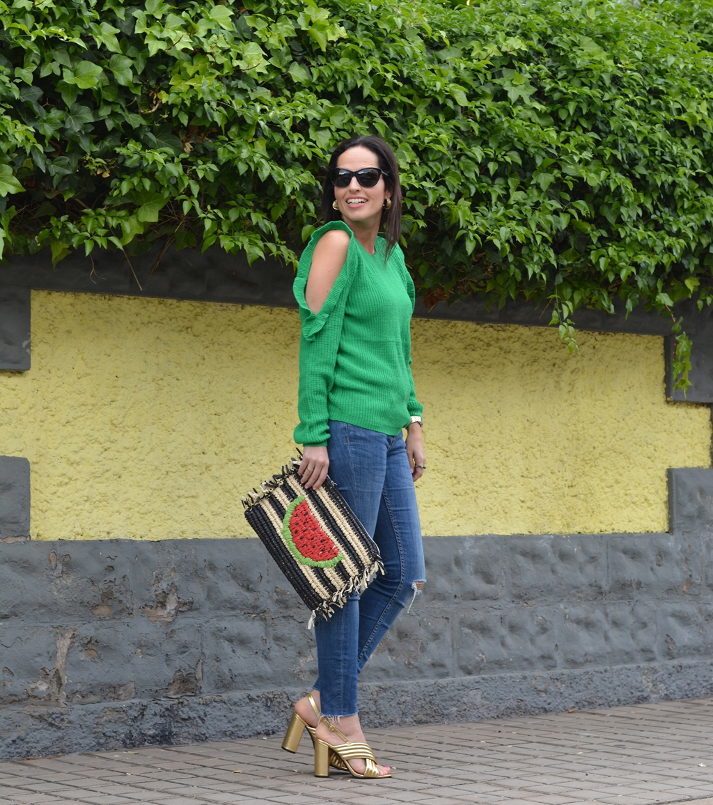 green-jersey-shein-clutch-watermelon-outfit