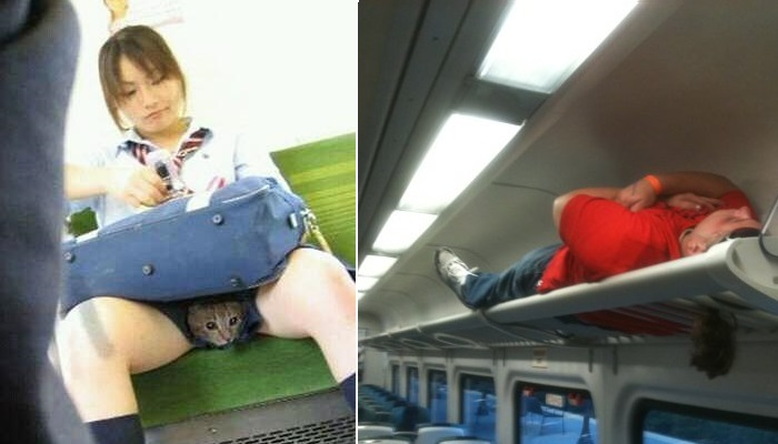 12 Foto Lucu Saat Orang Naik Kereta